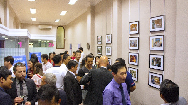 La quasi-totalité des commerçants avait répondu présent pour le cocktail de lancement du concours