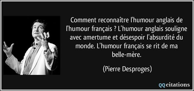 Desproges humour anglais francais