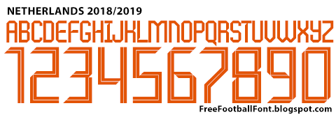 Free Football Fonts: Netherlands 20182019 Nike Font