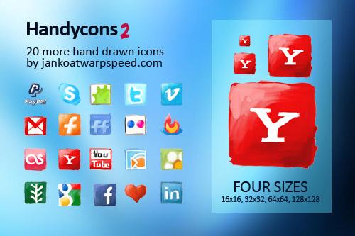 iconos dibujados de redes sociales