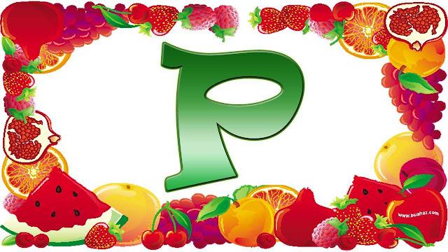 Definisi istilah buah dari huruf p