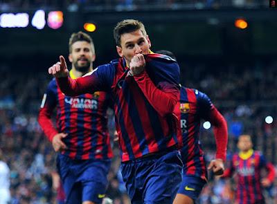 هاتريك ميسي في ريال مدريد