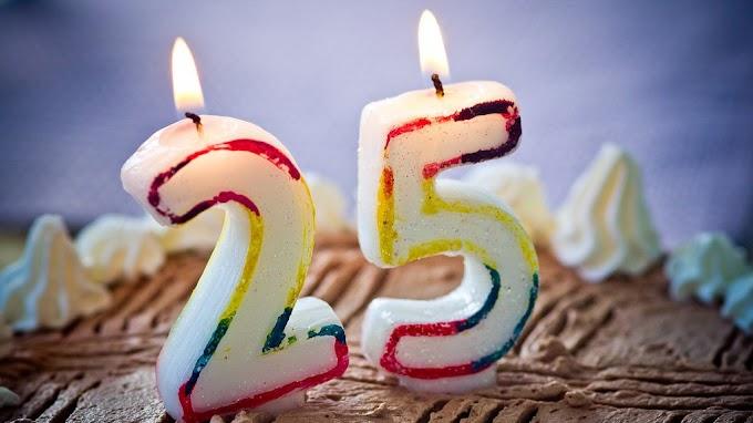 Textes d'anniversaire 25 ans