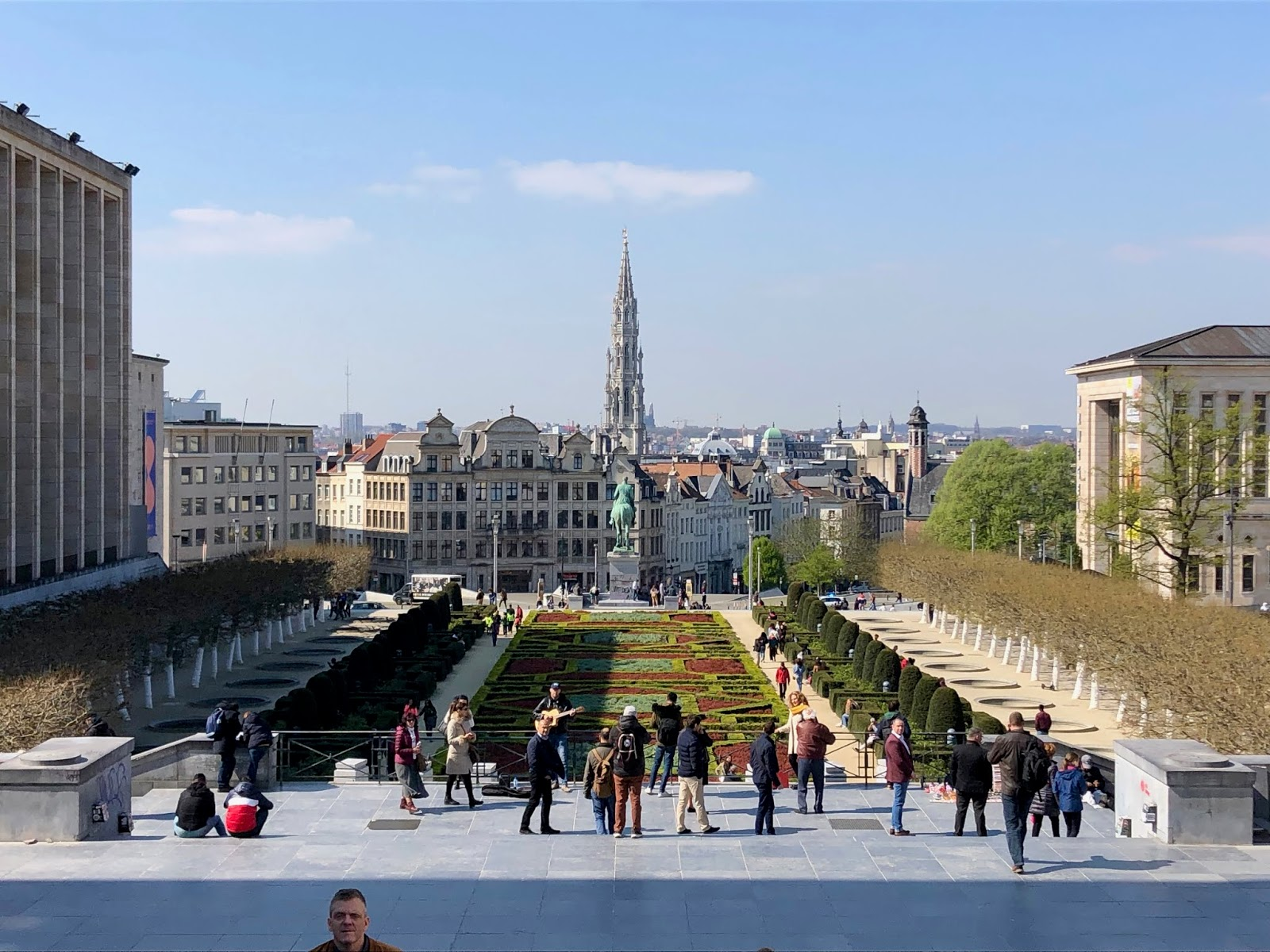 Mont des Arts in Brussels, Belgium