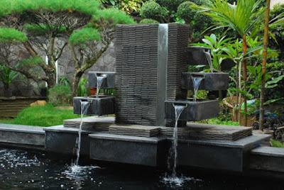 Water wall dan kolam koi jasataman co id