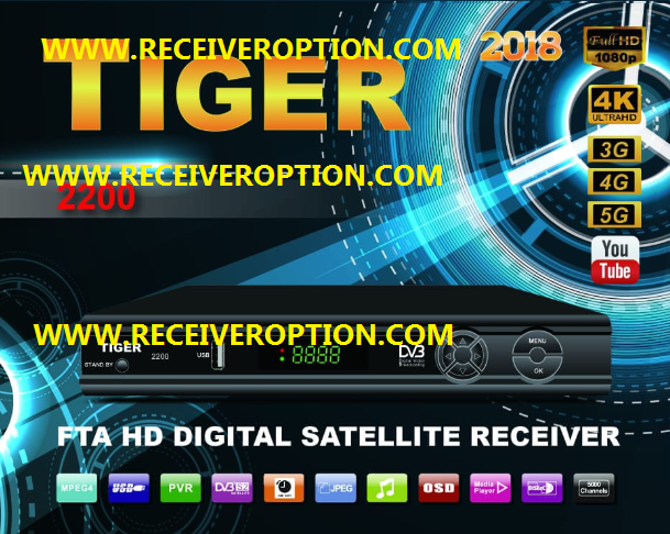 TIGER 2200 2018 HD RECEIVER AUTO ROLL POWERVU KEY NEW SOFTWARE