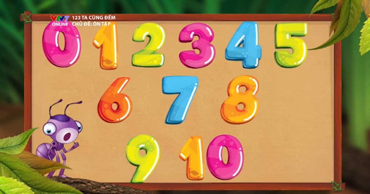 Phương pháp dạy số cho trẻ mầm non thông qua trò chơi