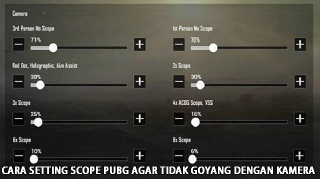 Cara Setting Scope PUBG Agar Tidak Goyang