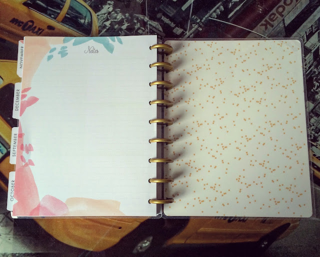 happy planner hello life note page at back