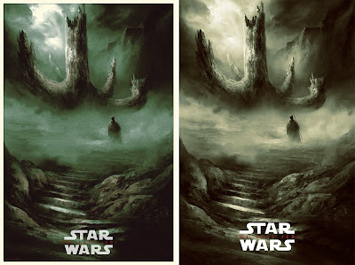 """New York Comic Con 2019 Exclusive Star Wars: The Last Jedi """"The Sacred Tree"""" Screen Print by Karl Fitzgerald x Bottleneck Gallery"""