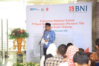 Wakil Bupati Batu Bara Hadiri Peresmian Relokasi Kantor BNI Cabang Kuala Tanjung