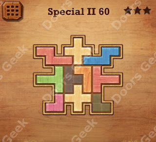 Cheats, Solutions, Walkthrough for Wood Block Puzzle Special II Level 60