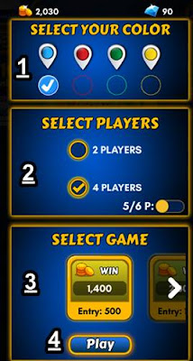 Select color players game and click play