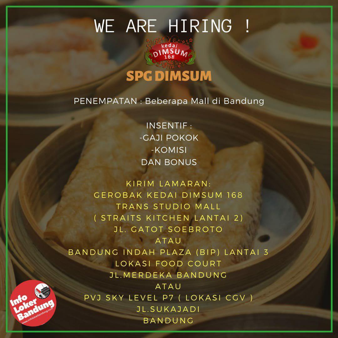 Lowongan Kerja Kedai Dimsum 168 Bandung November 2019