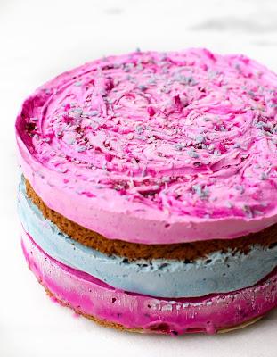VEGAN COTTON CANDY ICE CREAM CAKE