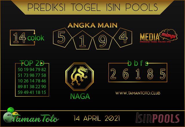 Prediksi Togel ISIN TAMAN TOTO 14 APRIL 2021