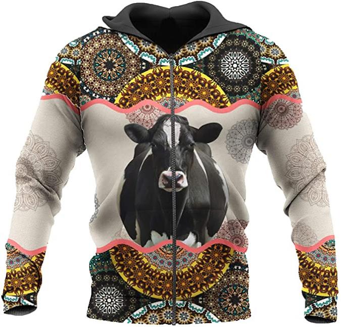 sudadera - capucha - estampado - vaca - vacaslecheras.net
