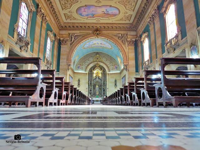 Vista artística do interior da Paróquia Nossa Senhora do Carmo - Basílica - Bela Vista - São Paulo