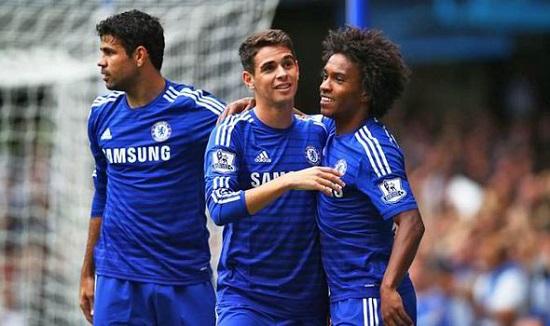Oscar và Willian sẽ sớm trở lại đội hình Chelsea.