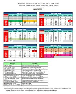 Kalender Pendidikan 2019/2020 Jawa Barat