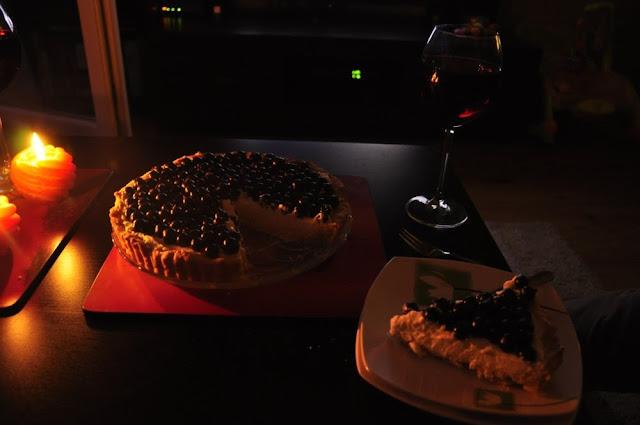 tarta, czarna porzeczka, mascarpone, randka z mężem