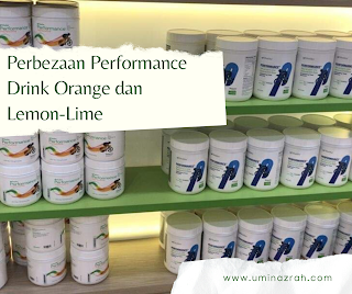 Perbezaan Performance Drink Shaklee Lemon-Lime dan Orange