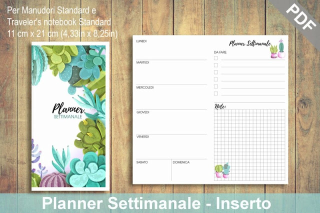 Traveler's Notebook ManùDori: ora i Planner stampabili in italiano