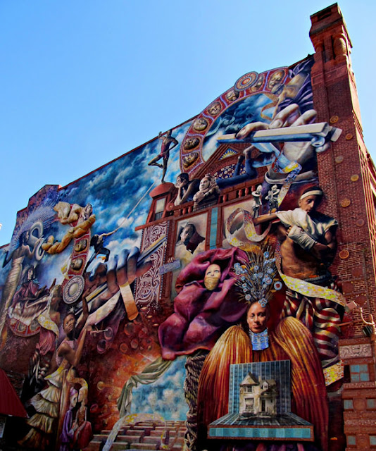 Grafiti atau Lukisan Dinding terbaik dan langka, dinding surga dan neraka