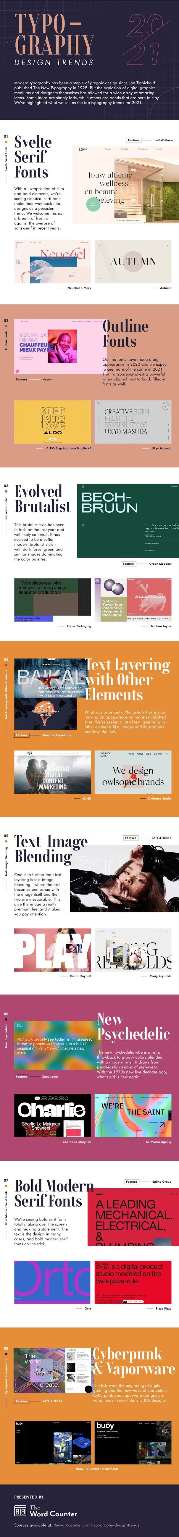 8 Typography Design Trends for 2021 #infographic #Design #infographics #Design Trends #Typography Design