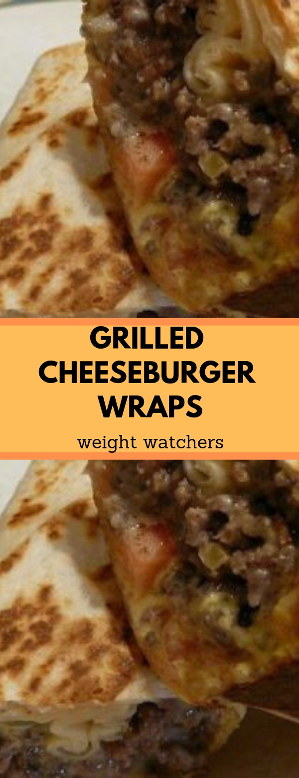 Grilled Cheeseburger Wraps weight watchers #weightwatchers #lowcarb #healthy #cheeseburger