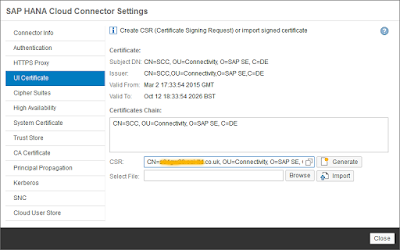 Secure your HANA Cloud Connector with OpenSSL certificates – Part 1