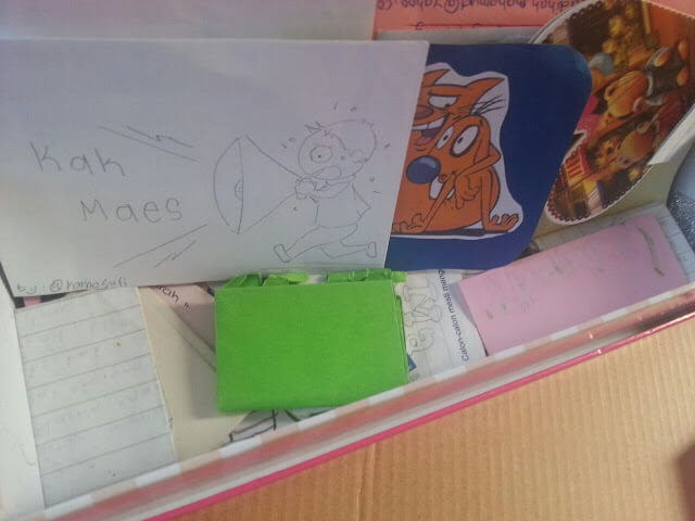 Letters been kept in a box