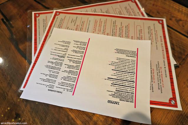 Carta de la Taberna Tuckaway Tavern en New Hampshire