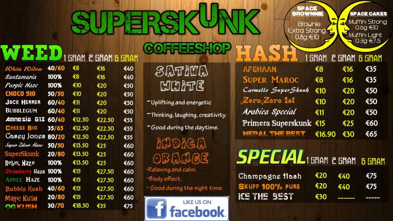 Bulldog Coffee Shop Amsterdam Prices