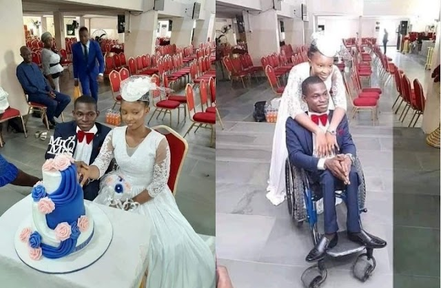 Woman weds a man in a wheelchair in Lagos (Photos)