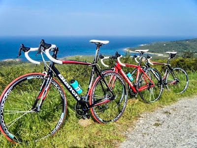 cycling Sardinia island Italy carbon road bike mtb ebike rental in Olbia