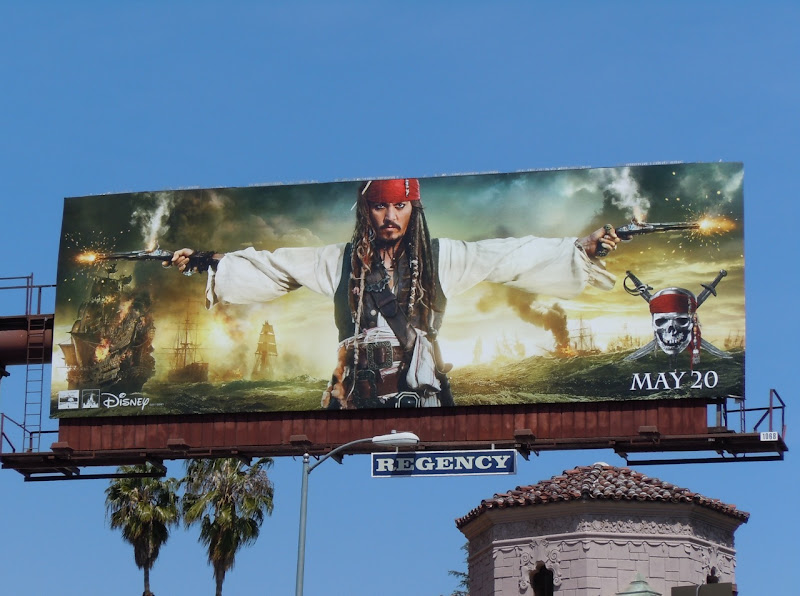 Johnny Depp Pirates of the Caribbean 4 billboard