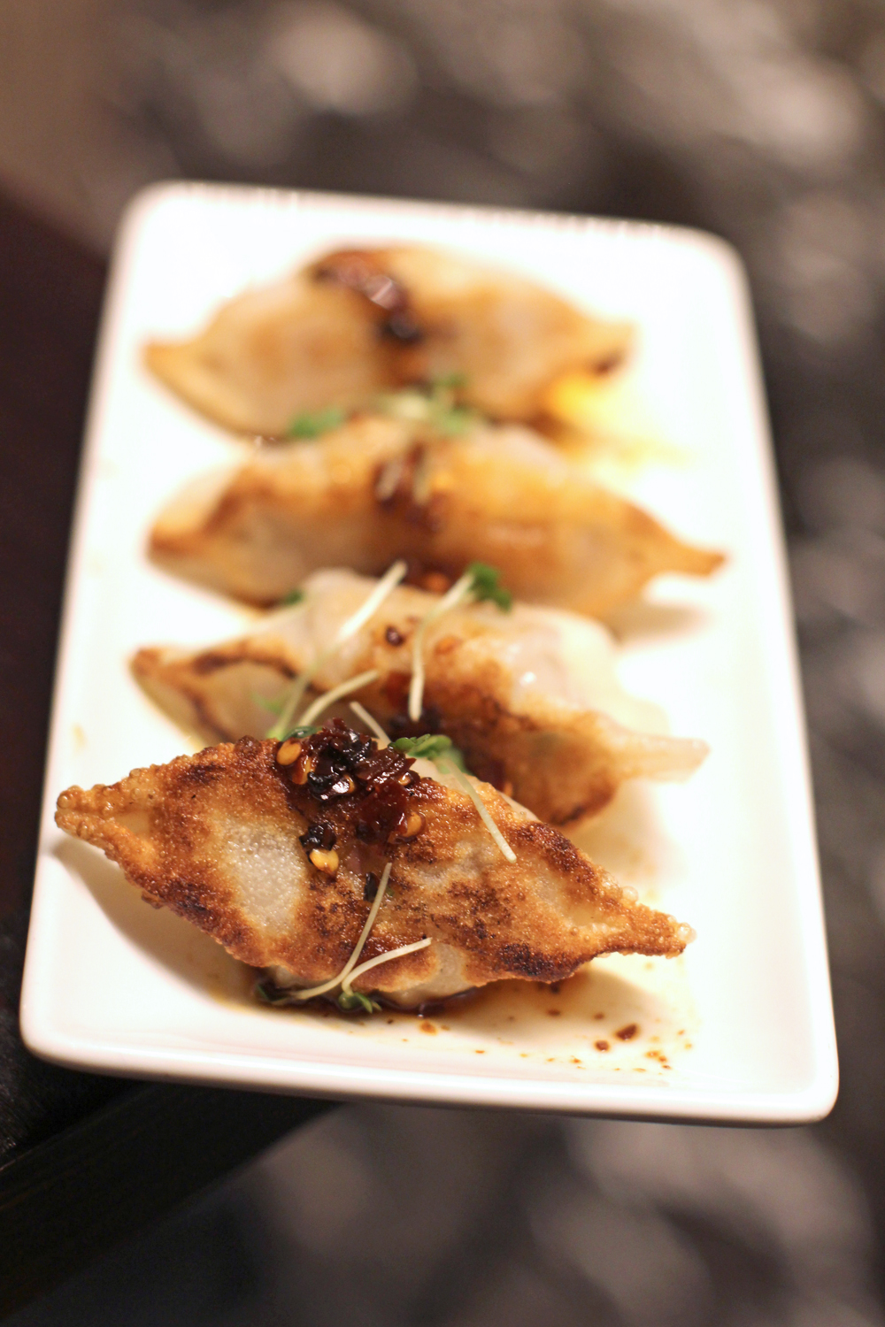 Gyoza dumplings at P.F. Chang's restaurant in London - UK lifestyle blog
