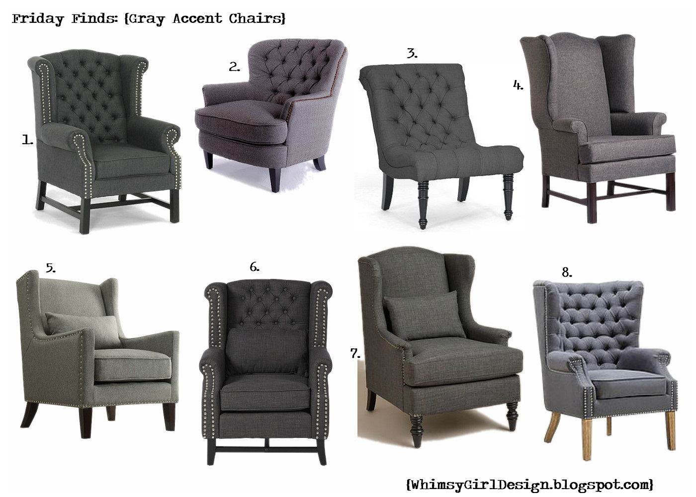Genial Porter High Back Gray Chair
