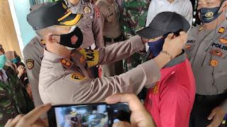 Kapolres Enrekang Pimpin Operasi Yustisi,di Pasar Baraka