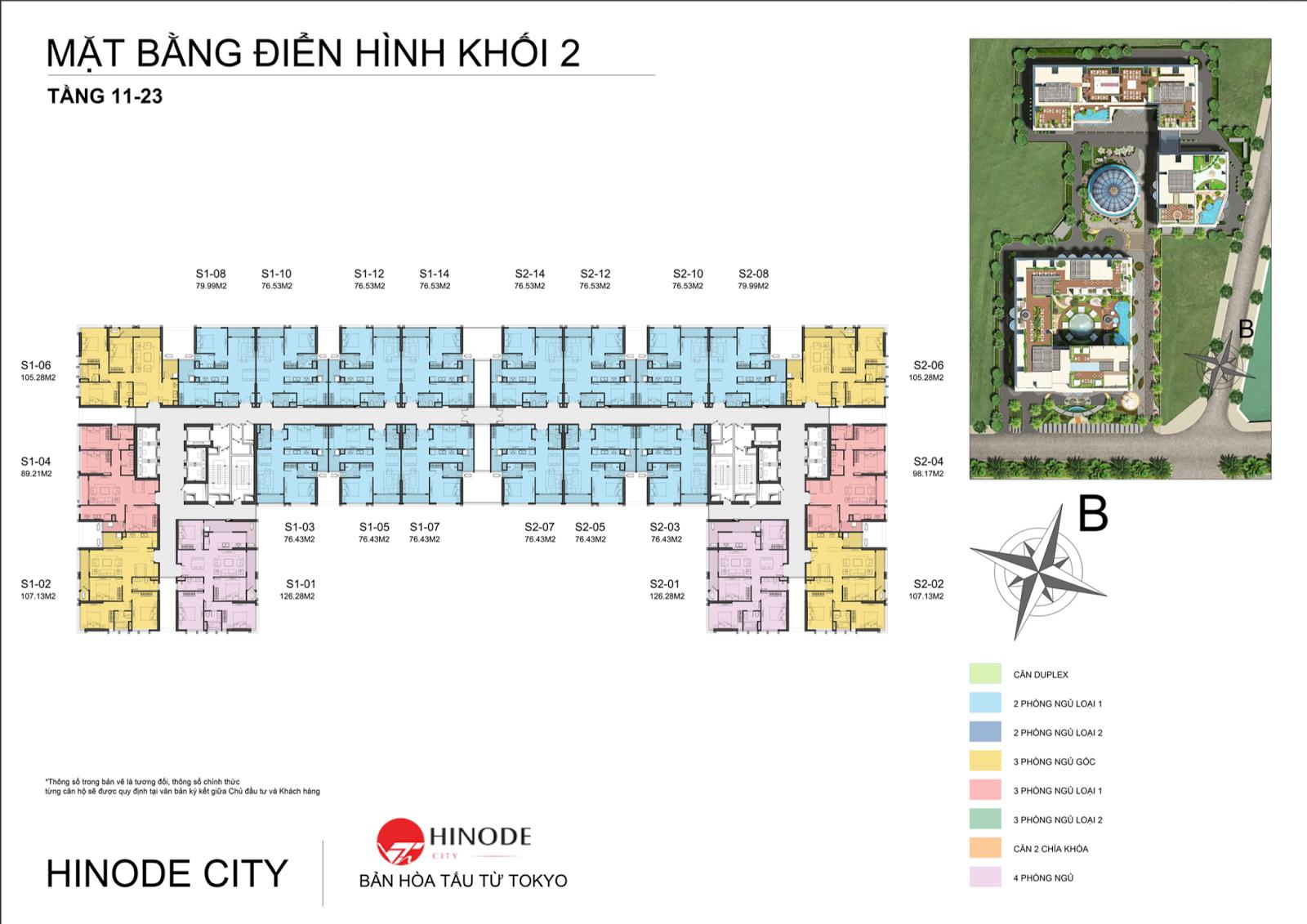 Mặt bằng điển hình toà C dự án 201 Minh Khai