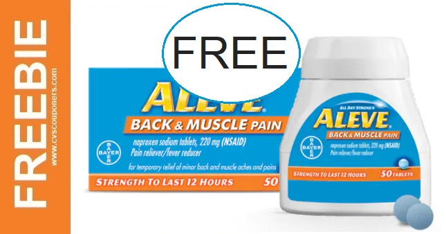 Free at CVS Aleve Pain Reliever 1-3-1-9