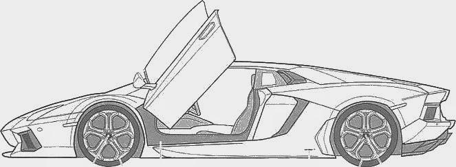 How to Draw Lamborghini Centenario Side View ...  Lamborghini Aventador Drawing Side View