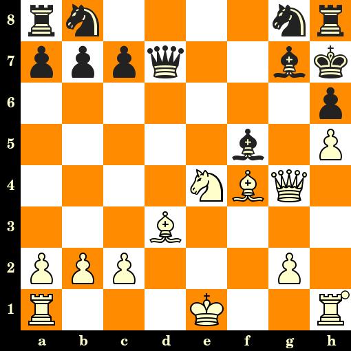 Les Blancs jouent et matent en 3 coups - Napier vs NN, Hastings, 1904