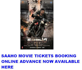 Saaho Movie Tickets Advance Online Booking now at Paytm,bookmyshow, justickets 1