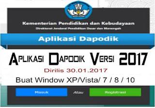 Dapodik Versi Terbaru Tahun 2017 Download