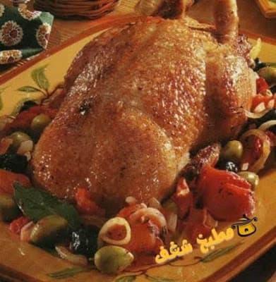 طريقة عمل البط المشوى مع محشي الكرنب بشوربة البط مع الملوخية بشوربة البط مع الكشك مطبخ شغف