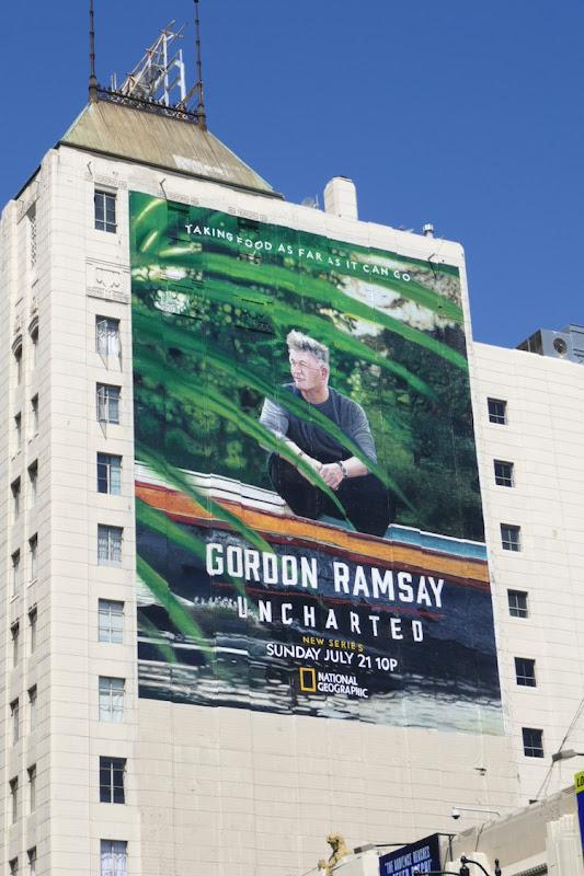 Gordon Ramsey Uncharted series billboard