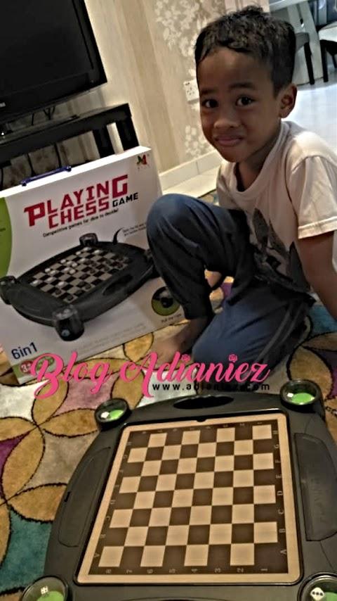 Playing Chess 6 in 1 Board Games   Untuk Izzat tapi main sekeluarga