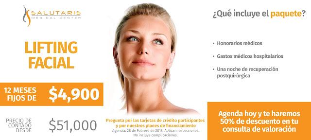 Paquete Cirugia Lifting Facial Ritidoplastia Precio Guadalajara Mexico